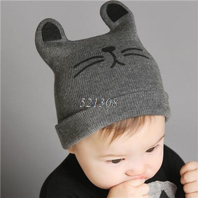 New Cat Printing Baby Caps ***FREE INSURED SHIPPING.