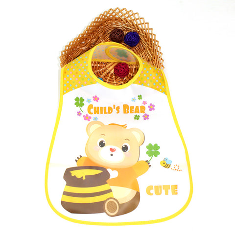 Baby Bibs EVA Waterproof Lunch Infants Cartoon Pattern Bibs ***FREE INSURED SHIPPING.