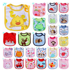 Baby Girl Boy Cartoon Bibs Bandanas Towel ***FREE INSURED SHIPPING.