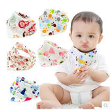 Baby bibs waterproof triangle Newborn slabber Absorbent cloth ***FREE INSURED SHIPPING.