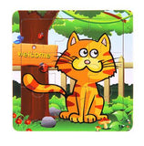 Candywood 3X3 Cute Wooden Animal Puzzles ***FREE INSURED SHIPPING.