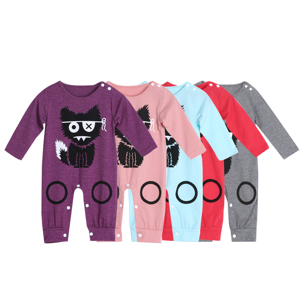 Cartoon Long Sleeve Baby Rompers ***FREE INSURED SHIPPING.