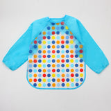 Cute Cartoon Colorful Baby Long Sleeve Art Apron Animal Smock Bib ***FREE INSURED SHIPPING.
