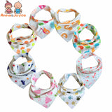 10pc/lot Baby Bibs 100% Cotton Triangle Bib ***FREE INSURED SHIPPING.