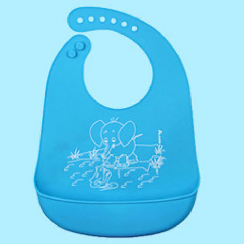 Hot Baby Children Silicone Stereo Bibs Adjustable Waterproof Bibs Crumb Catcher ***FREE INSURED SHIPPING.