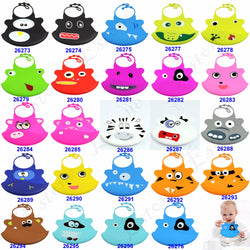 Hot New Kid Infant Baby Washable Silicone Feeding Bibs ***FREE INSURED SHIPPING.