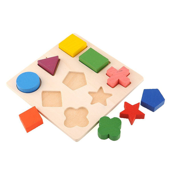 Wooden Geometry Educational Puzzle ***FREE INSURED SHIPPING.