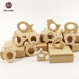 Let's Make Wooden Teethers 11 piece Teething Toys ***FREE INSURED SHIPPING.