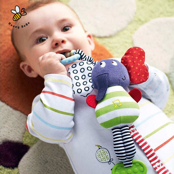 Musical Elephant Rattle Teether ***FREE INSURED SHIPPING.