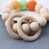 Natural Round Wood Bracelet Teether Toy ***FREE INSURED SHIPPING.