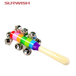 Surwish 1-Piece Wooden Stick with Jingle Bells ***FREE INSURED SHIPPING.