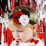 Kids Christmas Style Baby Flower Headband. ***FREE INSURED SHIPPING.