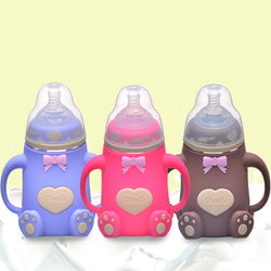 Wide Caliber Silicone 240ml Feeding Bottle ***FREE INSURED SHIPPING.