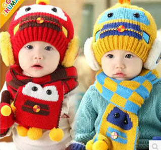 2 Piece Winter Ear Flap Warm Beanie With Scarf    FREE INSURED SHIPPIN 54c6945e95d9