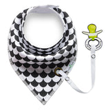 NEW Style Bandana Black Triangle Baby Bibs ***FREE INSURED SHIPPING.