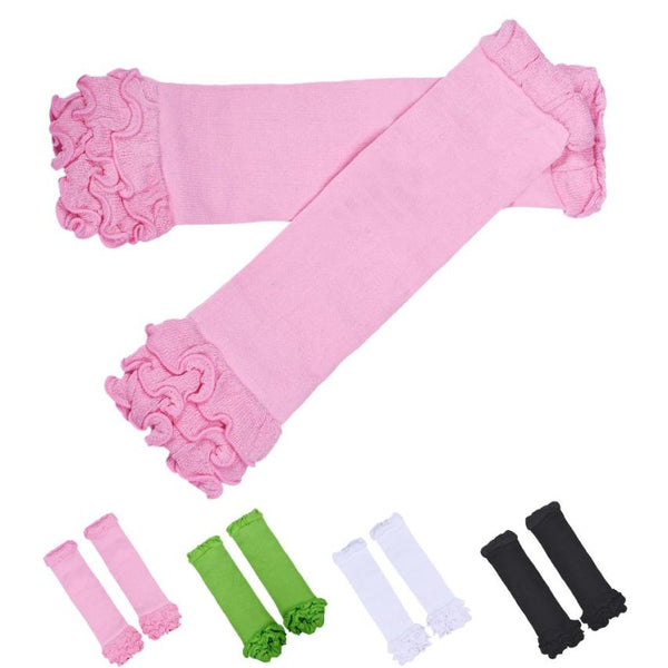 Cotton Color Leg Warmers with Ruffles ***FREE INSURED SHIPPING.