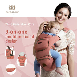 2018 Bebamour Luxury 9 in 1 Hip-seat Baby Carrier ***FREE INSURED SHIPPING.