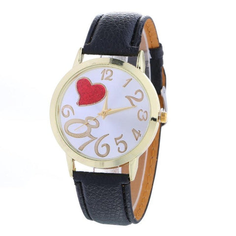 Fashion Ladies Watch Heart Pattern Quartz