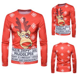Jolly Xmas Long-sleeved T-shirt Rudolph