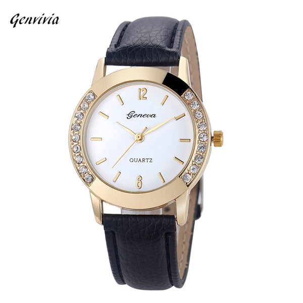 Women Genvivia Luxury Brand Quartz Watch