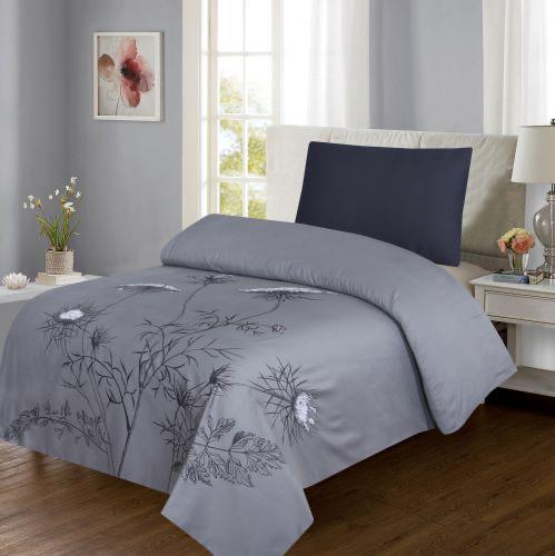 Grace d245-Reactive cotton Satin Quality sigle size Bedsheet with 1 pillow cover.