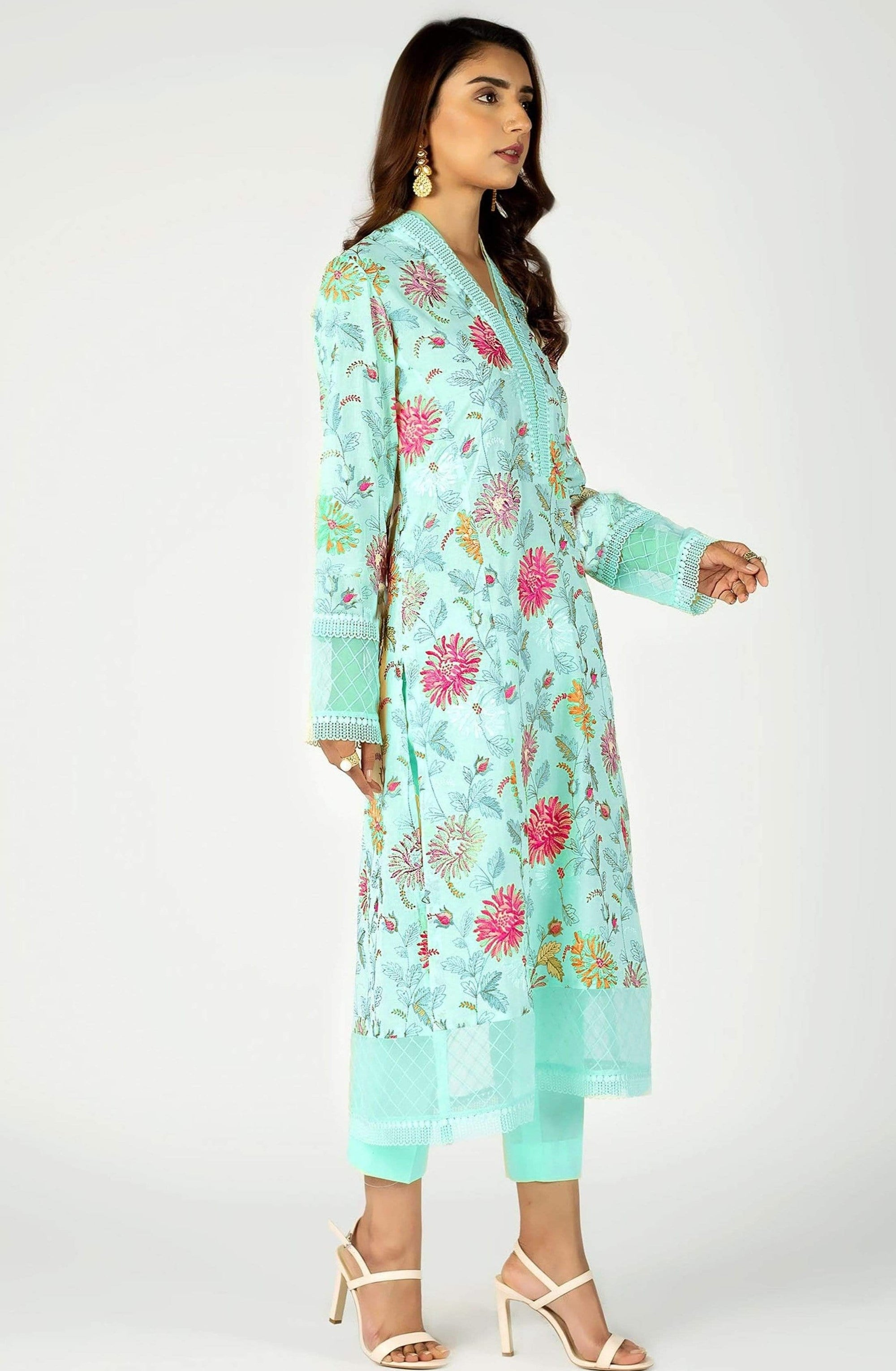 Bareeze 307-Embroided 2pc lawn dress shirt & trouser.