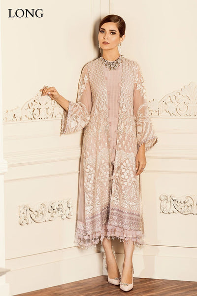Barooque 09 Dove-Heavy Embroided 3pc unstiched pure chiffon dress with embroided chiffon dupatta. - gracestore.pk