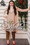 NEEDLEZ ORIGINAL CREAM-PURE CHIFFON UNSTITCHED 3PCS EMBROIDED DRESS - gracestore.pk