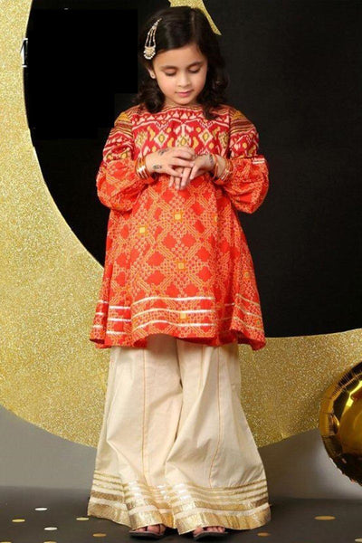 Maria 4 - Kids Embroided 2pc lawn dress with trouser. - gracestore.pk