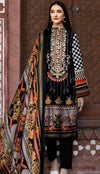 Gul Ahmed 6331-Embroided 3pc linen dress with printed wool shawl. - gracestore.pk