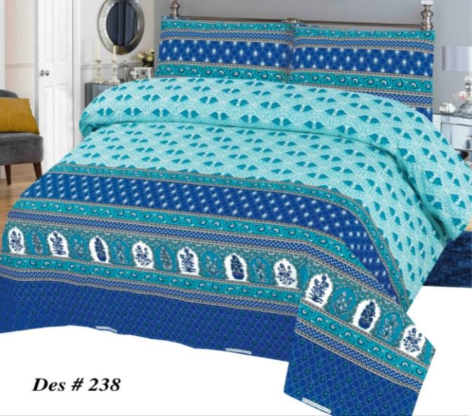 Alkarim Design 238-Cotton pc king size Bedsheet with 2 pillow covers. - gracestore.pk