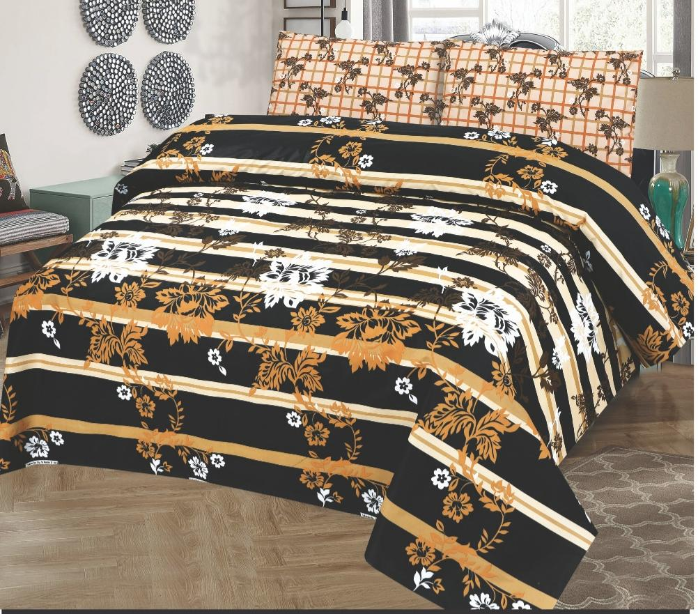 Alkarim Design 221-Cotton pc king size Bedsheet with 2 pillow covers. - gracestore.pk