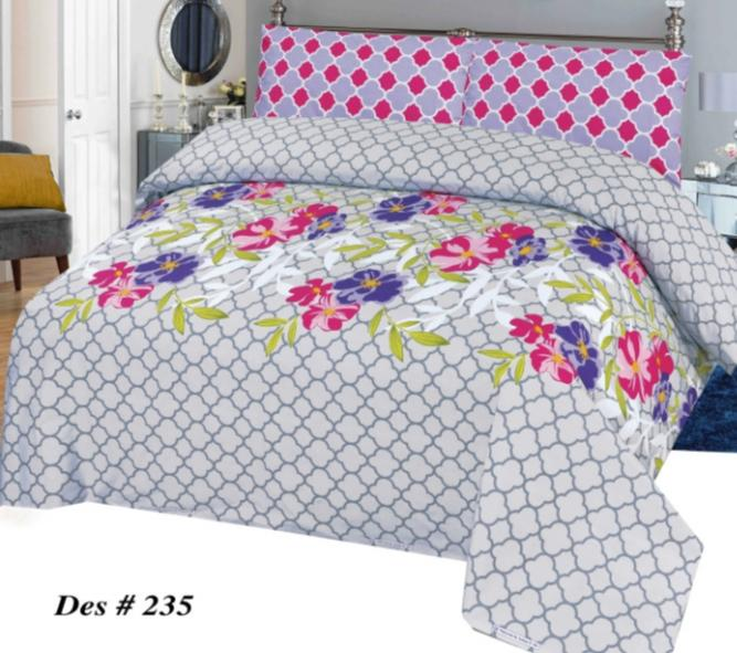 Alkarim Design 235-Cotton pc king size Bedsheet with 2 pillow covers. - gracestore.pk