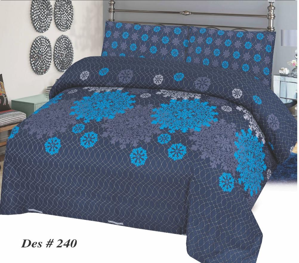 Alkarim Design 240-Cotton pc king size Bedsheet with 2 pillow covers. - gracestore.pk