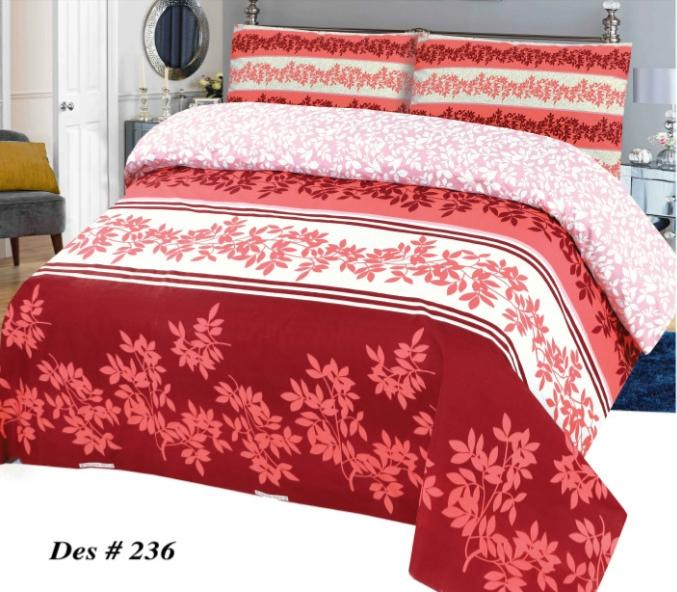 Alkarim Design 236-Cotton pc king size Bedsheet with 2 pillow covers. - gracestore.pk