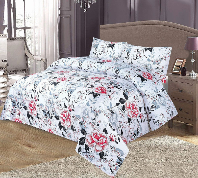 Grace 65-Reactive cotton Satin Quality king size Bedsheet with 2 pillow covers. - gracestore.pk