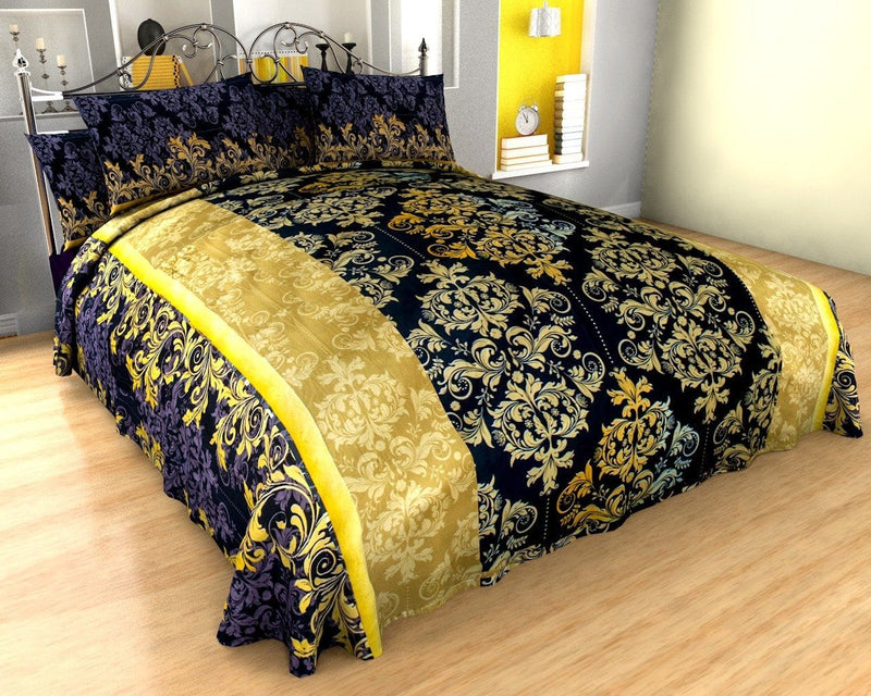 Grace 62-Reactive cotton Satin Quality king size Bedsheet with 2 pillow covers. - gracestore.pk