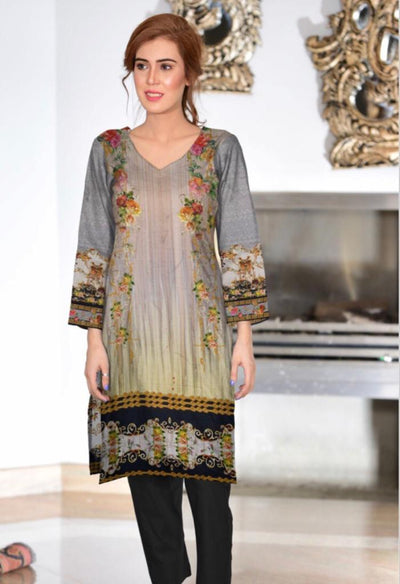 Zara Noor 13-Original Digital Printed Unstiched Lawn kurti.