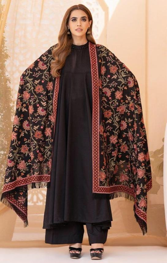 Sarinnah Premium 10-Formal heavy Embroided Karandi shawl.