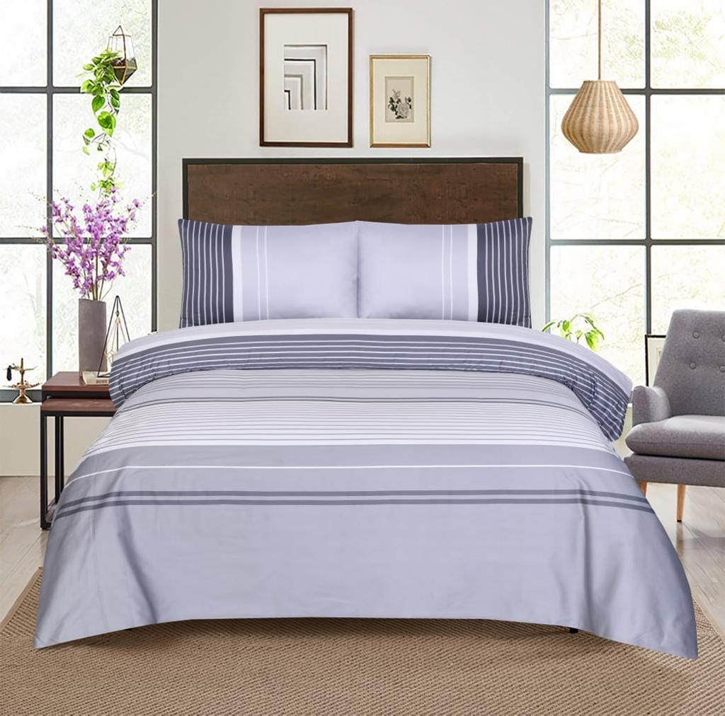 Grace D368-Reactive cotton Satin Quality king size Bedsheet with 2 pillow covers.
