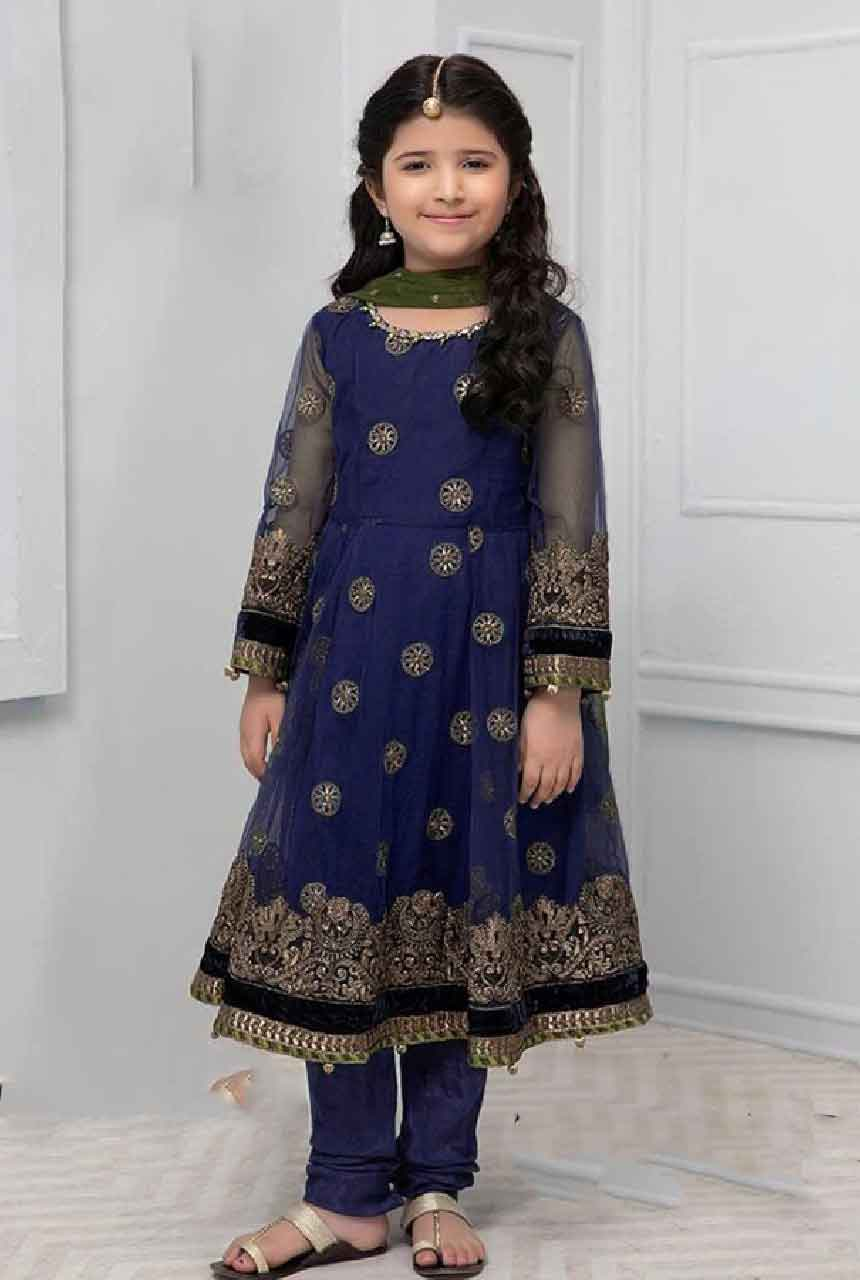 Maria 201233-Kids Embroided 3pc net dress with net dupatta.