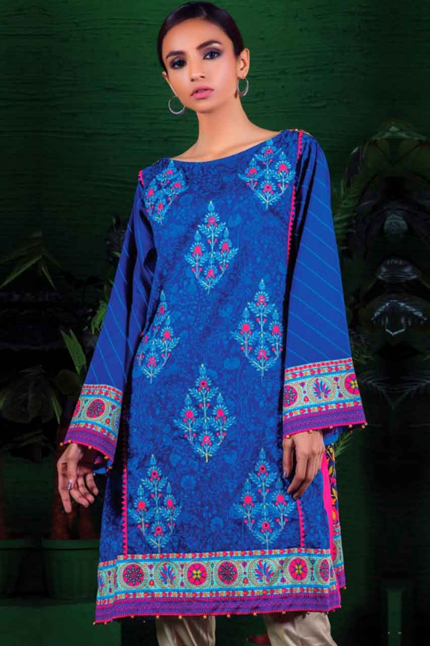Orient 18275A - Embroidered 3pc lawn dress with printed chiffon dupatta. - gracestore.pk