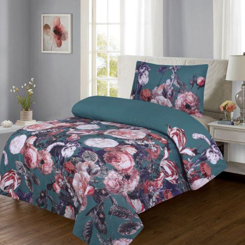 Grace d247-Reactive cotton Satin Quality sigle size Bedsheet with 1 pillow cover.