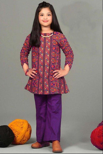 Maria 2- Kids Embroided 2pc lawn dress with trouser. - gracestore.pk