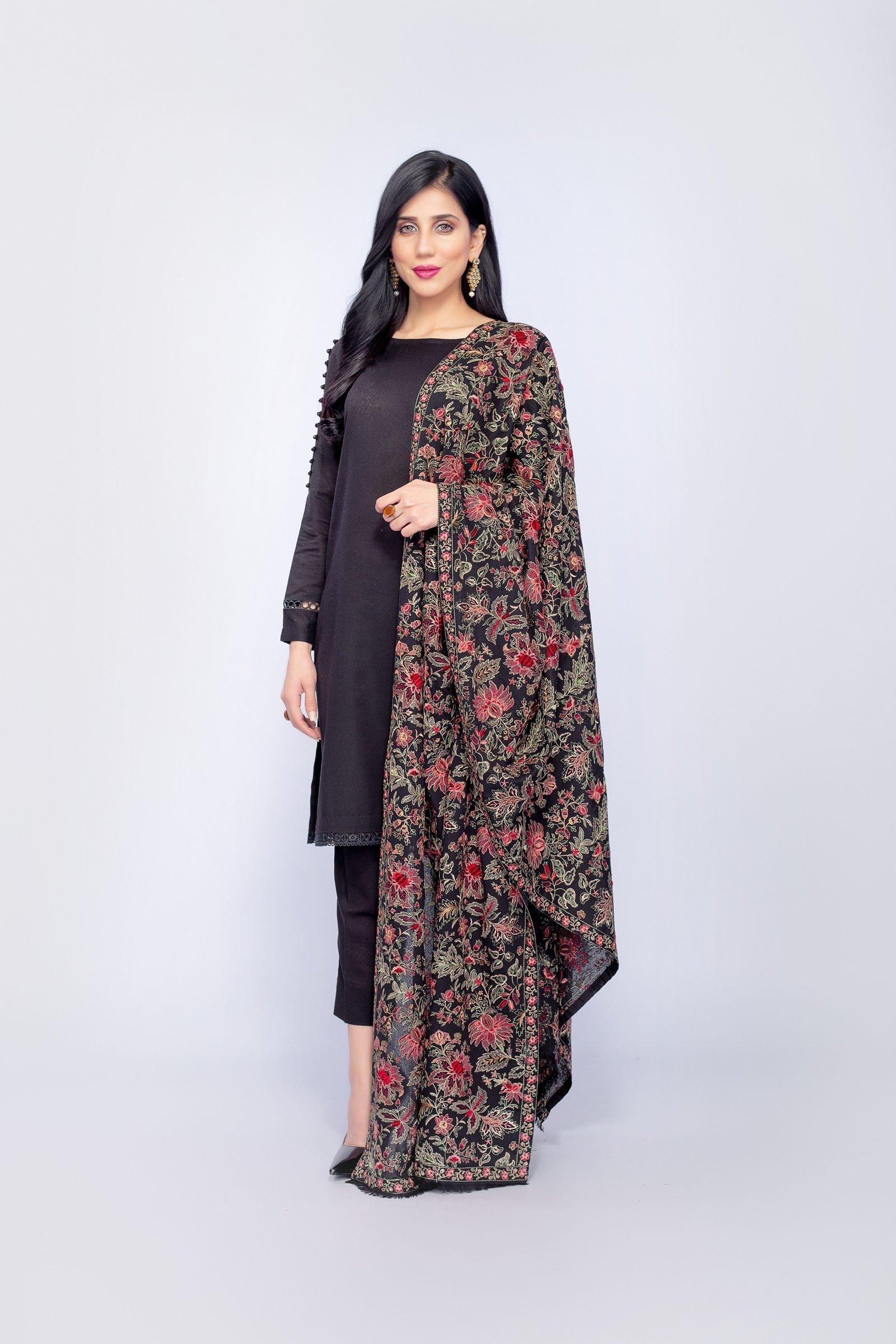 Grace 10 - Formal Heavy Embroidered Karandi Lawn shawl - gracestore.pk