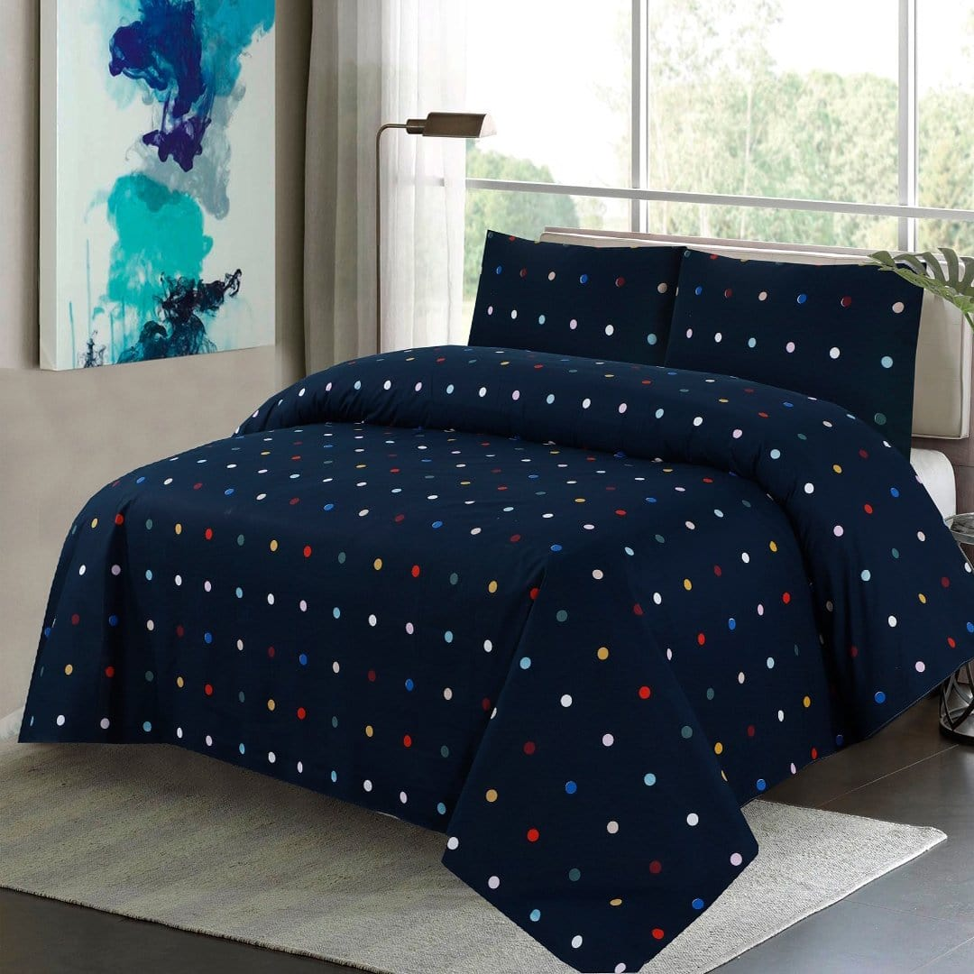 Grace D277-Cotton PC King Size Bedsheet with 2 Pillow Covers.