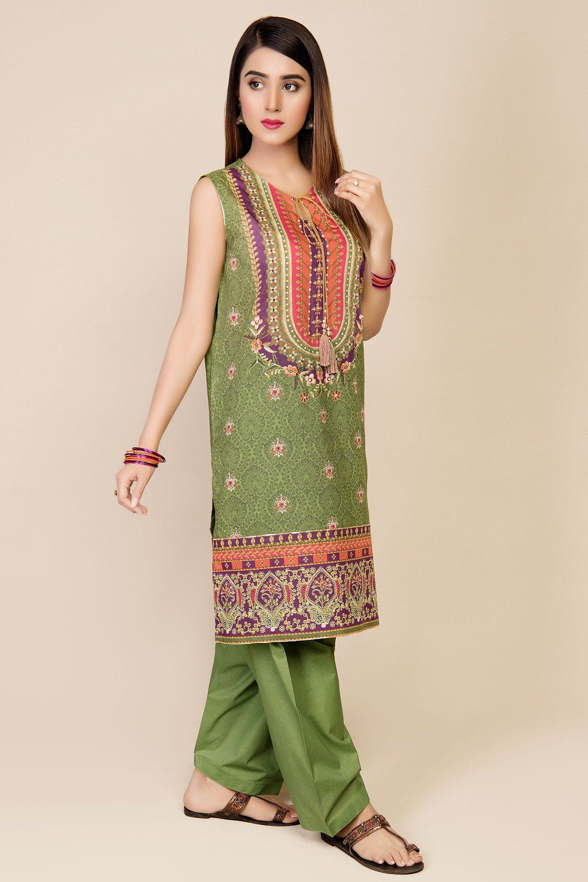 Kayseria 18033-Embroided 3pc Marina dress with printed wool shawl. - gracestore.pk