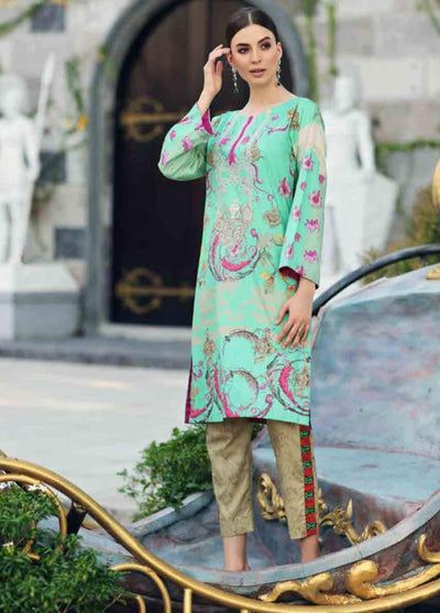 charizma 18216-Embroided 3pc linen dress with printed linen dupatta. - gracestore.pk