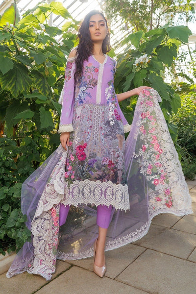 Sobia Nazir 7A-Embroided cutwork 3pc lawn  dress with net dupatta. - gracestore.pk