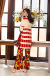 Charizma 6348-Embroided 3pc linen dress with printed wool shawl. - gracestore.pk